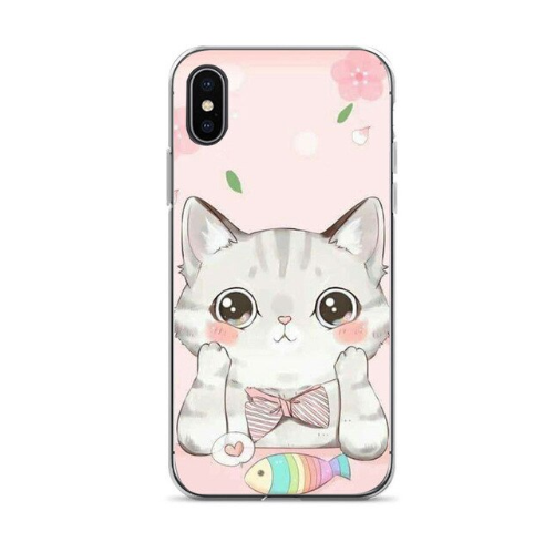 Fashion Capa 7 plus Cute cat Diy Printing Drawing phone case For iphone 6 6s 7 7plus 8 8plus X xs xr XS Max cses-102